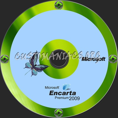 Microsoft Encarta Premium 2009 dvd label