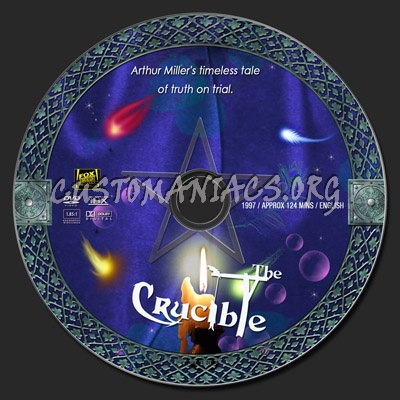The Crucible 1996 dvd label