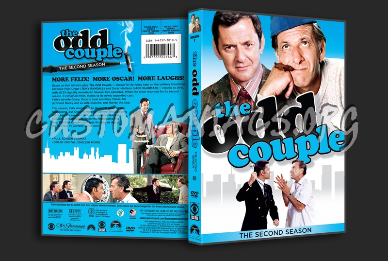 The Odd Couple Season 2 dvd cover