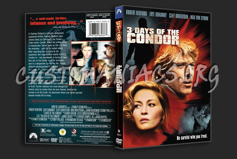 3 Days of the Condor dvd cover