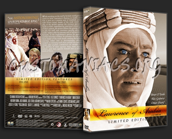 Lawrence of Arabia dvd cover