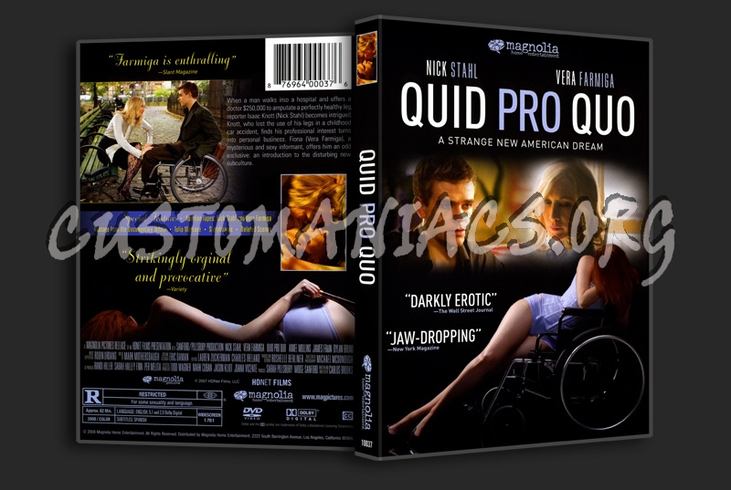 north country movie quid pro quo Thr in early 40s, what's the quid pro quo in later years discussion in 'hip replacement pre-op area' started by bigmac, aug 5, 2017 the north country:.
