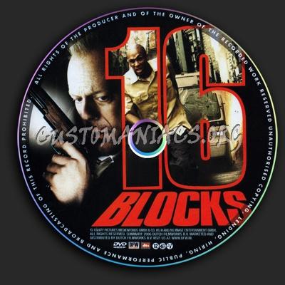 16 Blocks dvd label