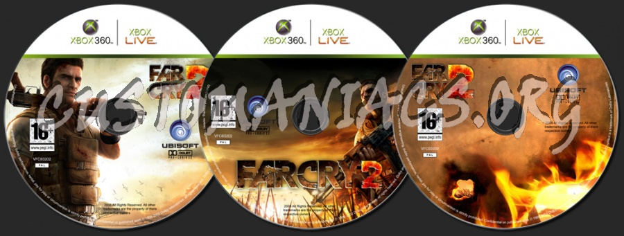 Far Cry 2 dvd label - DVD Covers & Labels by Customaniacs, id: 47702