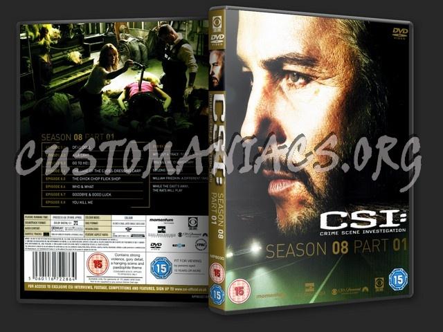 CSI (Las Vegas) Season 8 Part 1 dvd cover