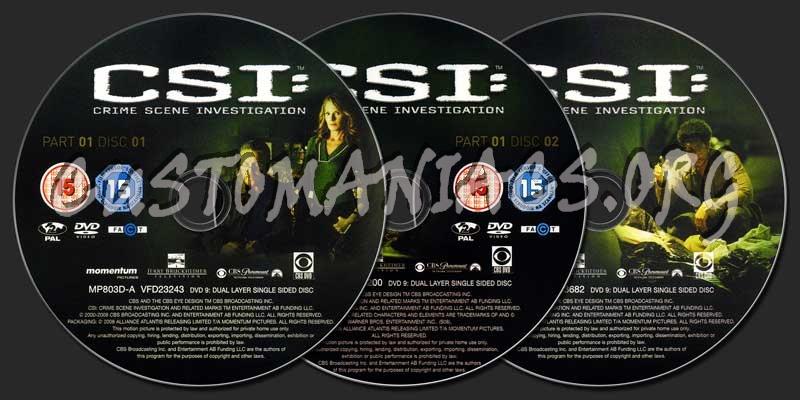 CSI (Las Vegas) Season 8 Part 1 dvd label