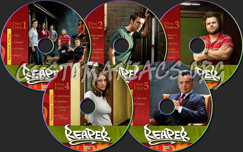 Reaper season one dvd label