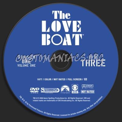 The Love Boat Season 1 Volume 1 dvd label