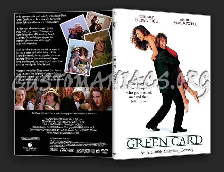 Green Card - DVD Covers & Labels by Customaniacs, id: 10942