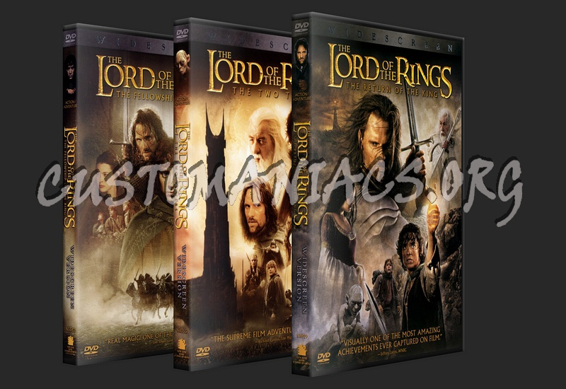 Lord of the Rings dvd cover