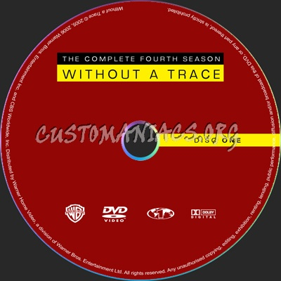Without a Trace Season 4 dvd label