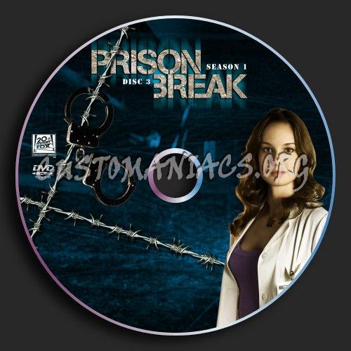 Prison Break : Season 1 : Disc 3 dvd label