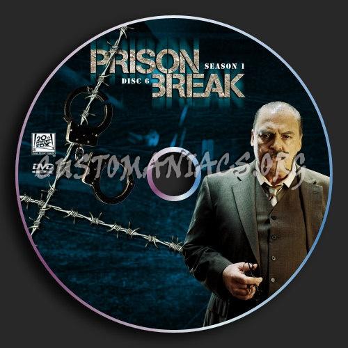 Prison Break : Season 1 : Disc 6 dvd label