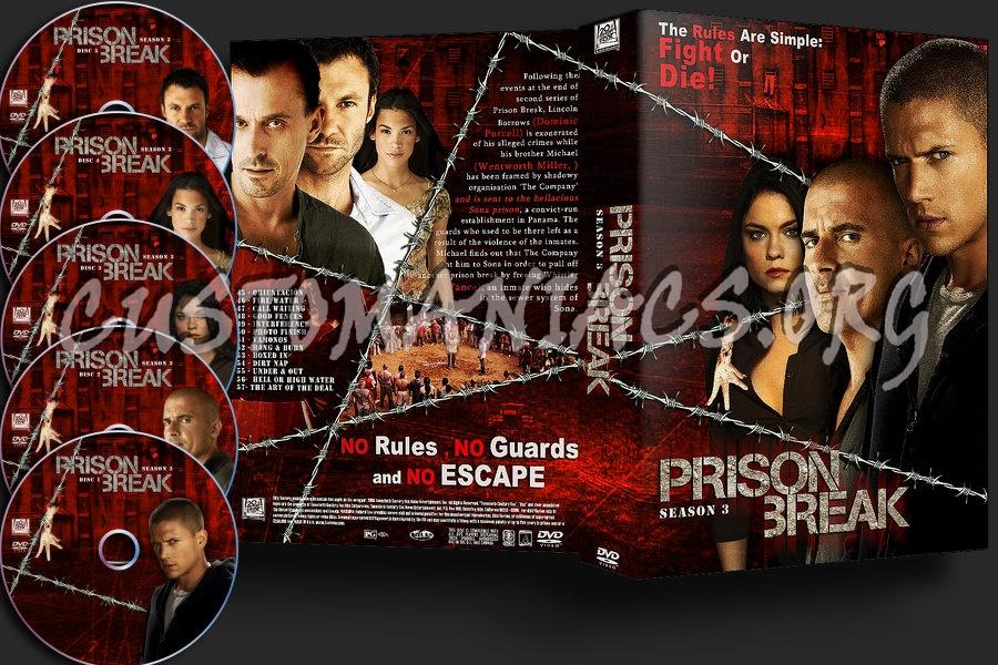 Prison Break Season 3 Dvd Cover Dvd Covers Labels By
