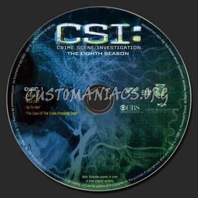 CSI (Las Vegas) Season 8 dvd label