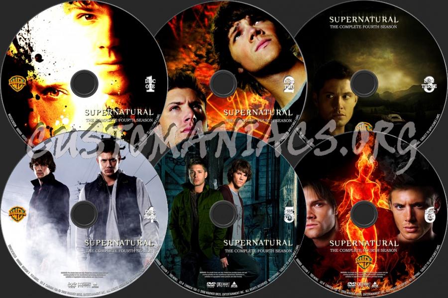 Supernatural Season 4 dvd label