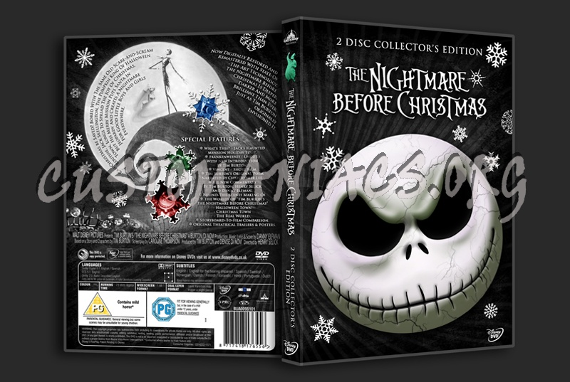 the nightmare before christmas 2 disc edition dvd cover - A Nightmare Before Christmas 2