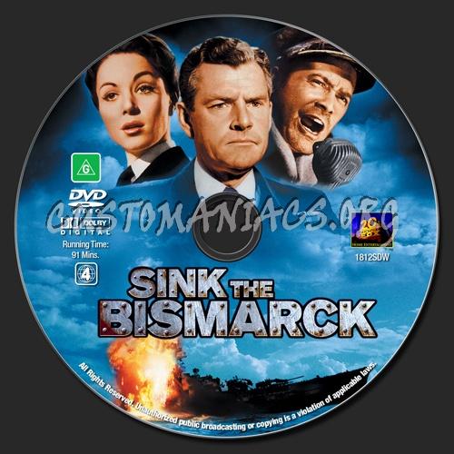 Sink The Bismarck dvd label
