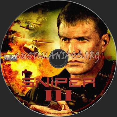 Sniper 3 dvd label