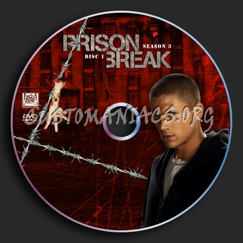 Prison Break : Season 3 : Disc 1 dvd label