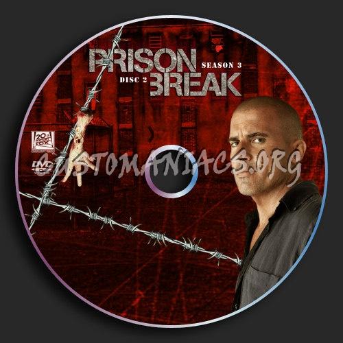 Prison Break : Season 3 : Disc 2 dvd label