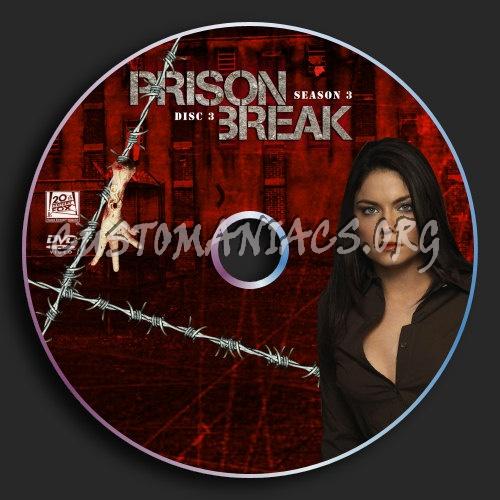 Prison Break Season 3 Disc 3 Dvd Label Dvd Covers