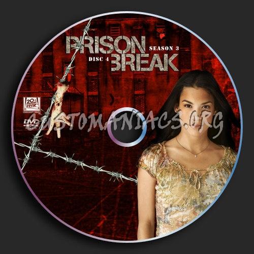 Prison Break : Season 3 : Disc 4 dvd label