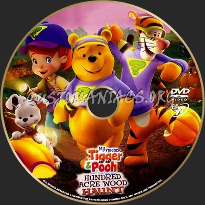 Tigger & Pooh Hundred Acre Wood Haunt dvd label