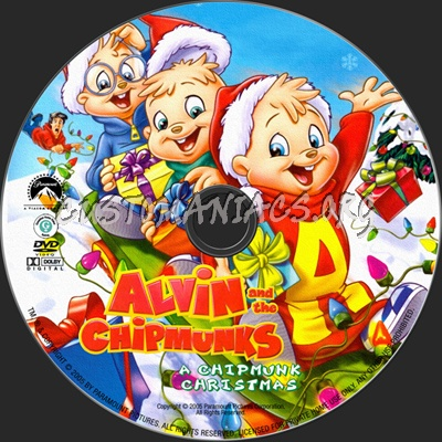Alvin And The Chipmunks Christmas.Alvin The Chipmunks A Chipmunks Christmas Dvd Label Dvd
