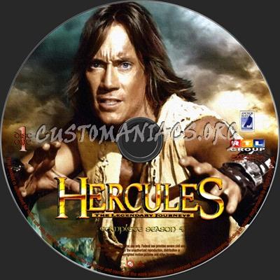 Hercules The Legendary Journeys Season 4 dvd label