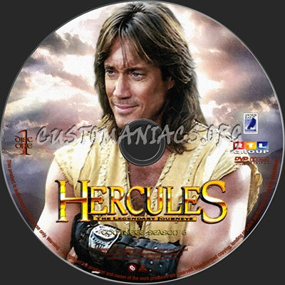 Hercules The Legendary Journeys season 6 dvd label