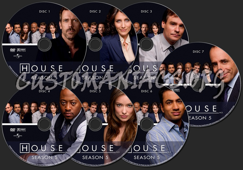House Season 5 dvd label