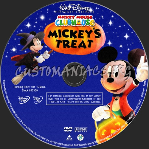 Mickey Mouse Clubhouse Mickey's Treat dvd label - DVD ...