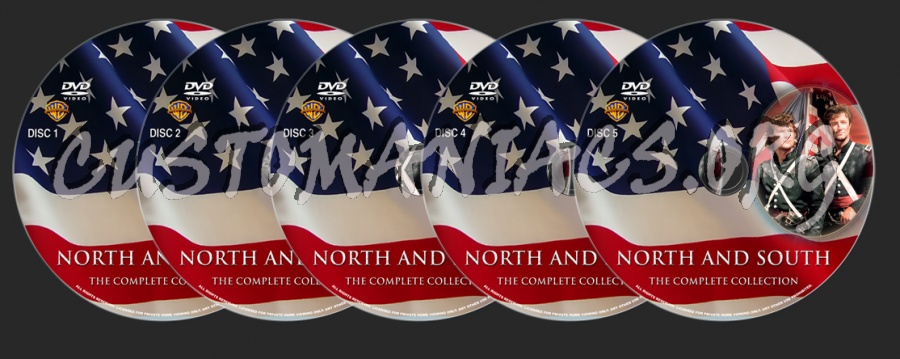 North and South Complete Collection dvd label
