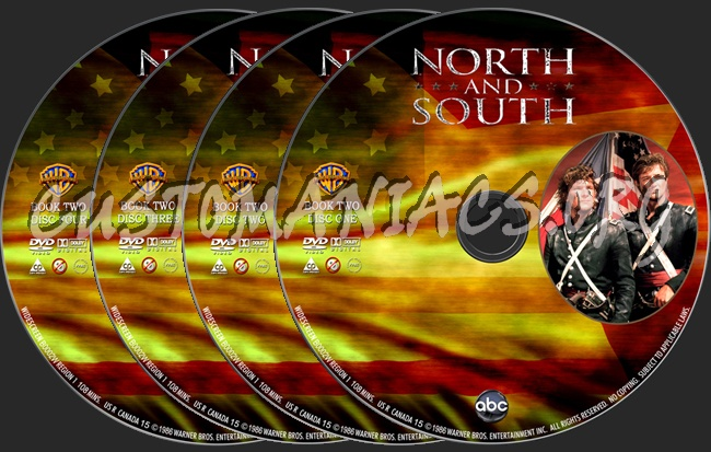 North and South Book 2 dvd label