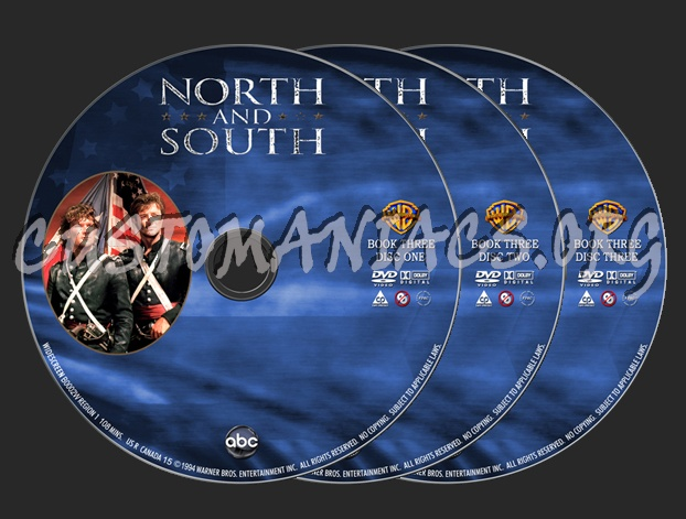 North and South Book 3 dvd label