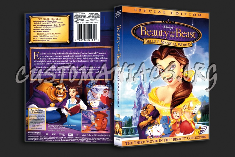 Beauty And The Beast Belle S Magical World Dvd Cover Dvd Covers Labels By Customaniacs Id 1794 Free Download Highres Dvd Cover