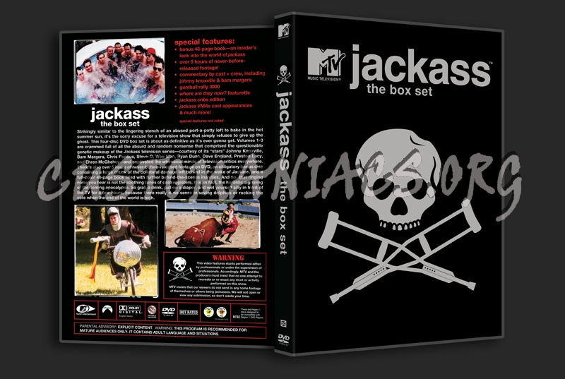 Jackass The Box Set ( Volume 1, 2 and 3) dvd cover