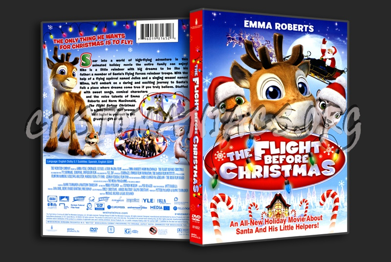 The Flight Before Christmas.The Flight Before Christmas Dvd Cover Dvd Covers Labels
