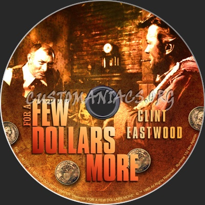 For a Few Dollars More dvd label