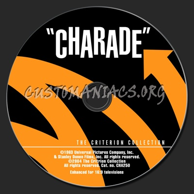057 - Charade dvd label