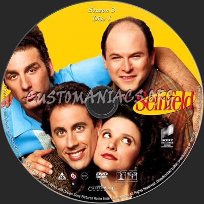 Seinfeld Season 3 dvd label
