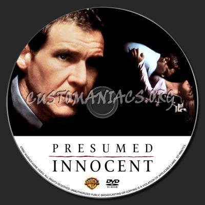 Presumed Innocent dvd label