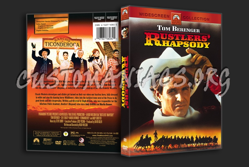 Rustlers' Rhapsody dvd cover