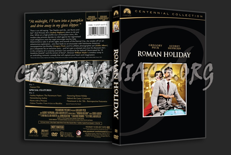 Roman Holiday dvd cover