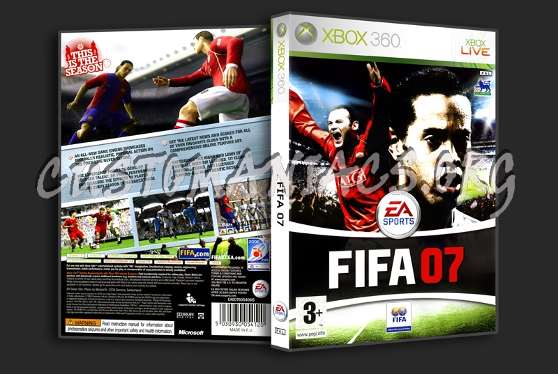 Fifa '07 dvd cover