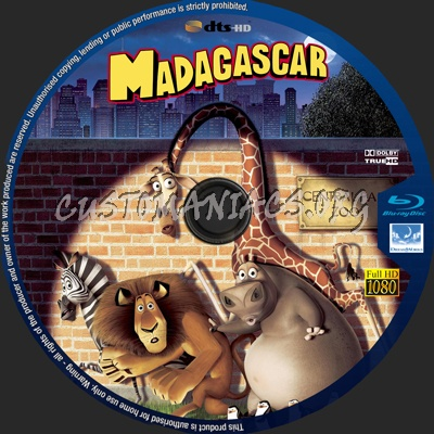 Madagascar blu-ray label