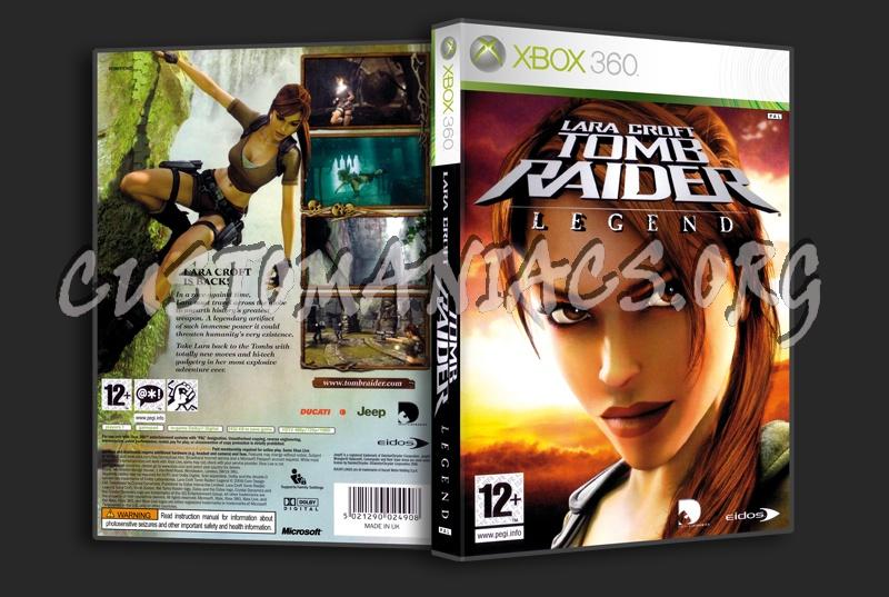 Lara Croft Tomb Raider Legend dvd cover