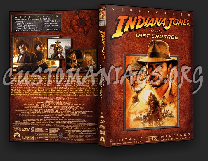 Indiana Jones and the Last Crusade dvd cover