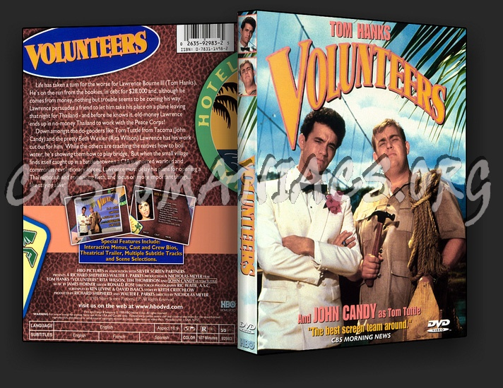 Volunteers dvd cover DVD Covers & Labels by Customaniacs